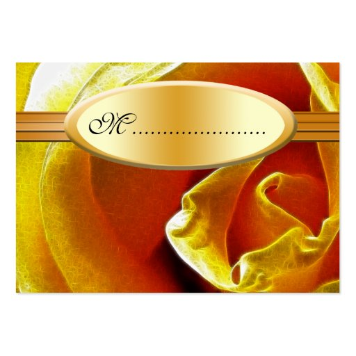 Table Seating Card Antique Yellow Rose Business Card Template