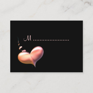 Table Seating Card Heart Strings