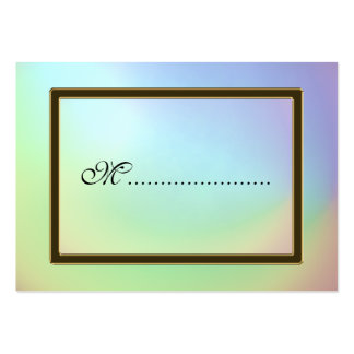 Table Seating Card Opalescent Rainbow Business Card Template