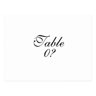 Table seating wedding guest placement CUSTOM Postcard