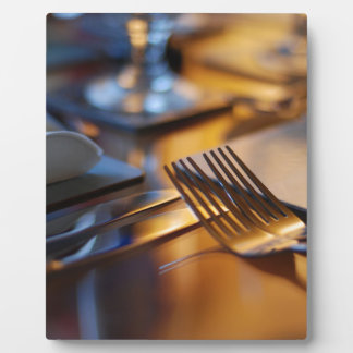 Table set for dining plaque