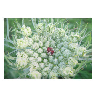 Table set green-white game flower cloth placemat