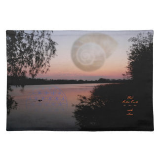 Table set ~ Heal Mother Earth ~ with Love Cloth Placemat