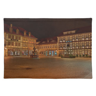 Table set market place who Niger ode at night Placemat