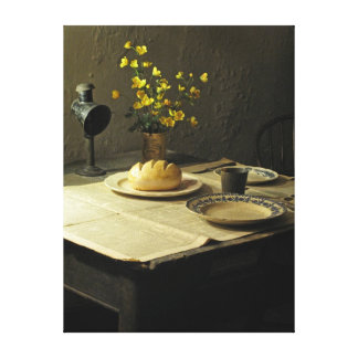 Table Setting Stretched Canvas Print