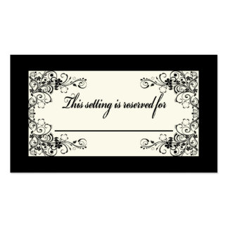 Table Setting Card Business Card