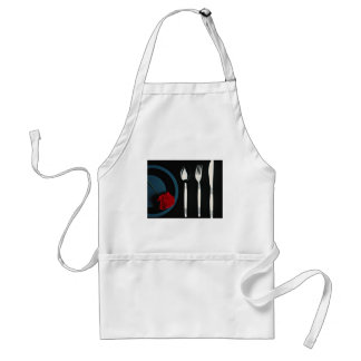 Table setting  flowers adult apron