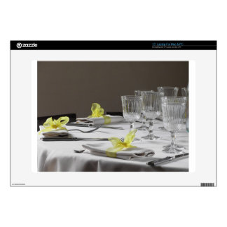 """Table setting for Christmas or other event 15"""" Laptop Decal"""