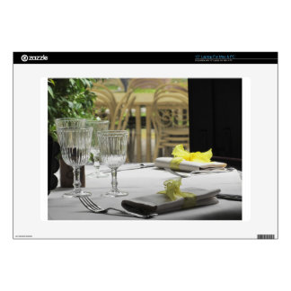 """Table setting for Christmas or other event 15"""" Laptop Skin"""