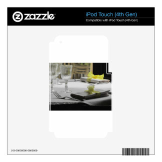 Table setting for Christmas or other event iPod Touch 4G Decal