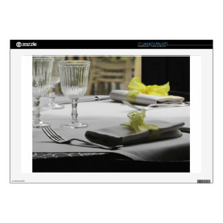 Table setting for Christmas or other event Laptop Skin