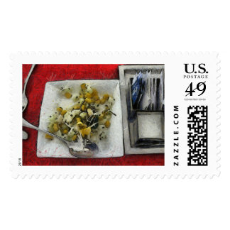 Table settings at time of a meal postage