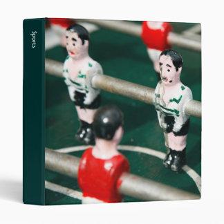 Table soccer 3 ring binders