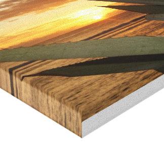 table sunset canvas print