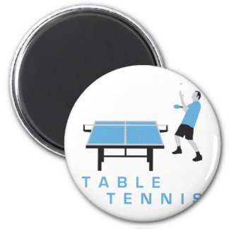 table tennis 2 inch round magnet