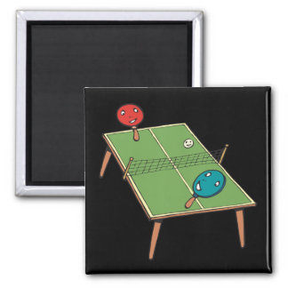 Table Tennis 2 Inch Square Magnet