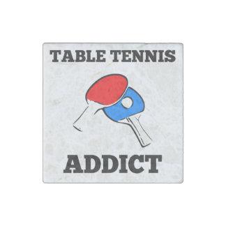Table Tennis Addict Stone Magnet