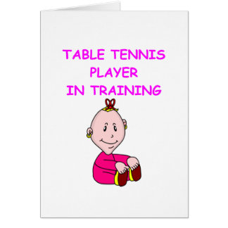 table tennis baby card