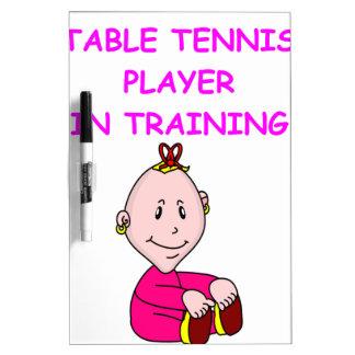 table tennis baby dry erase board