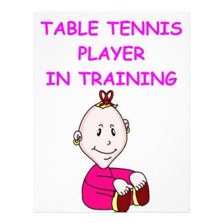 table tennis baby customized letterhead