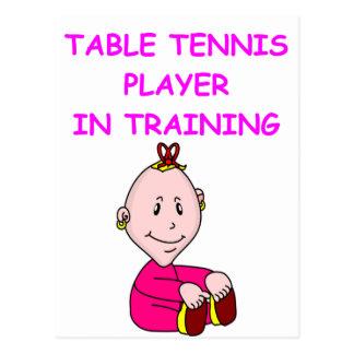 table tennis baby postcard