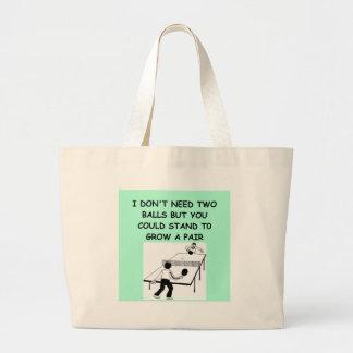 table tennis tote bags