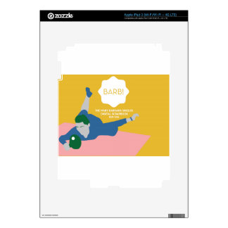 Table Tennis Barb iPad 3 Decals