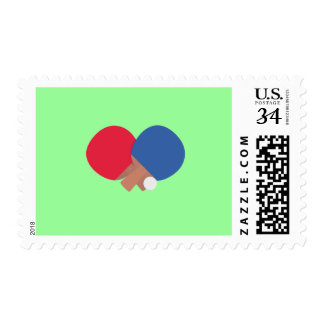 table tennis bat and ball postage