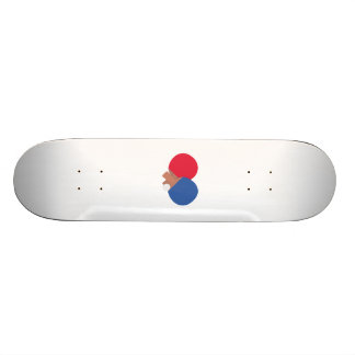 table tennis bat and ball skateboard
