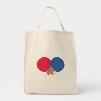 table tennis bat and ball tote bag