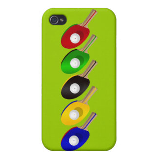 Table Tennis Bat and Ping Pong Ball Sports iPhone 4/4S Case