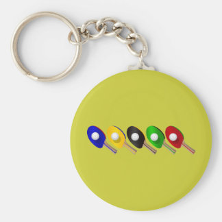 Table Tennis Bat and Ping Pong Ball Sports Keychain