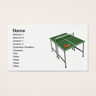Table Tennis Business Card