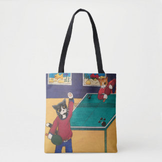 Table Tennis Cats Tote Bag