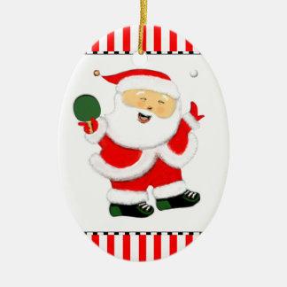 Table Tennis Ceramic Ornament