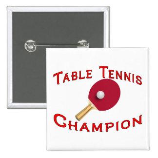 Table Tennis Champion Button