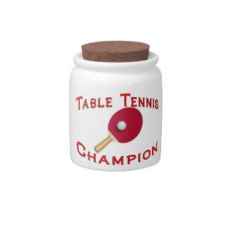 Table Tennis Champion Candy Jar