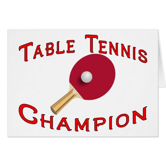 Table Tennis Champion Card