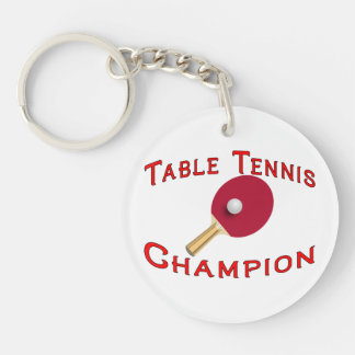 Table Tennis Champion Keychain