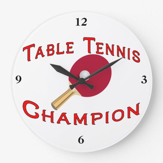 Table Tennis Champion Large Clock