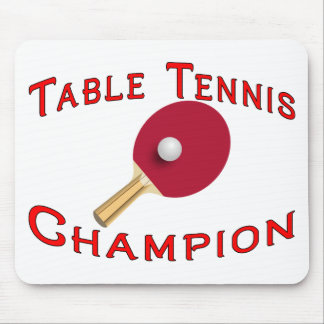 Table Tennis Champion Mouse Pad