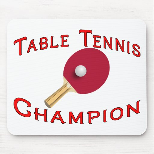 Table tennis champion mouse pad zazzle for Table a vi 6 2 of the stcw code
