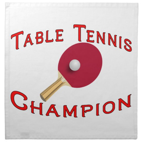 Table Tennis Champion Napkin