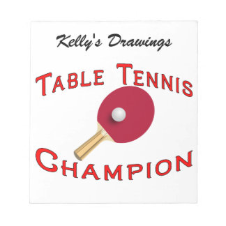 Table Tennis Champion Notepad