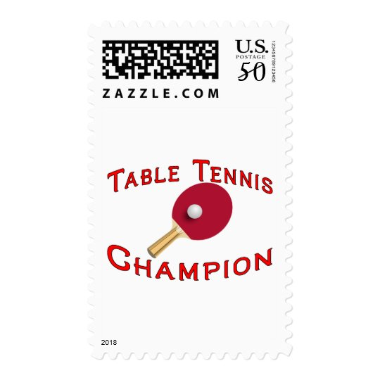 Table Tennis Champion Postage