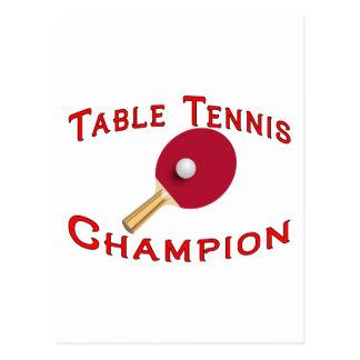 Table Tennis Champion Postcard