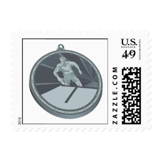 Table Tennis Champion Stamp