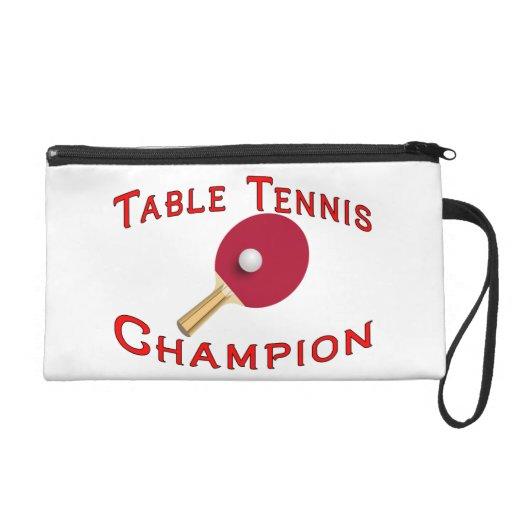 Table Tennis Champion Wristlet Clutch