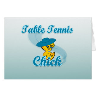 Table Tennis Chick 3 Cards