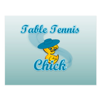 Table Tennis Chick 3 Post Cards